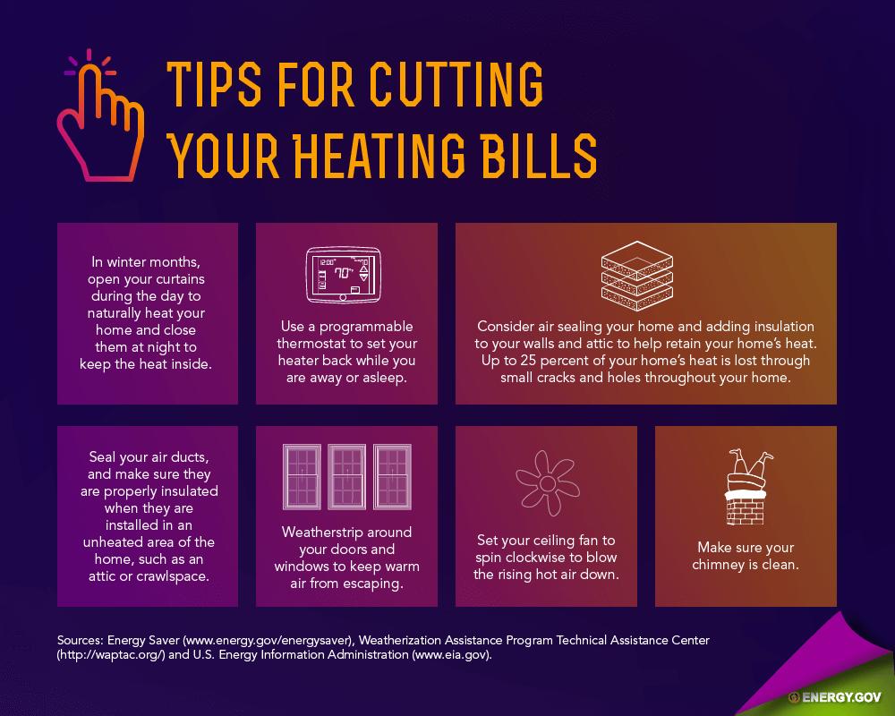 tips to reduce heating bills